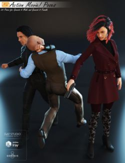 Action Movie!- Poses for Genesis 8 Male and Genesis 8 Female
