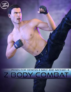 Z Body Combat - Poses for Genesis 8 Male and Michael 8