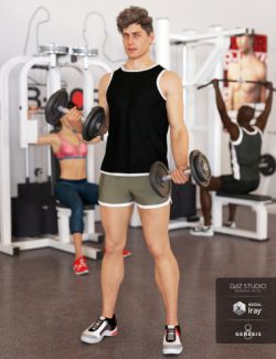 Gym Wear Outfit for Genesis 8 Male(s)
