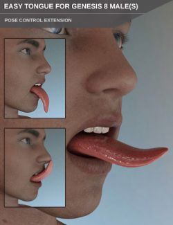 Easy Tongue for Genesis 8 Male(s)