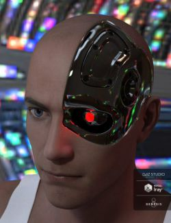 Cybernetic Head for Genesis 8 Male(s)