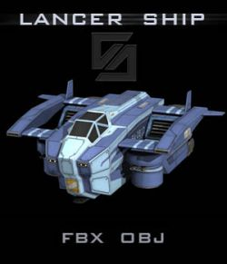 Lancer Ship FBX - Extended License