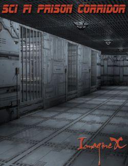 Sci Fi Prison Corridor