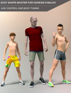 Easy Shape Master- Age Control and Body Tuning for Genesis 8 Male