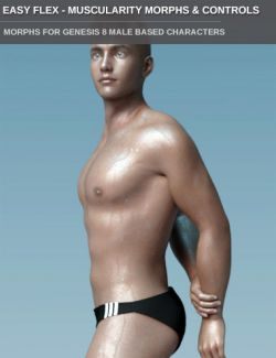 Easy Flex Muscularity Morphs for Genesis 8 Male(s) and Merchant Resource