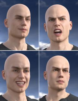 Faces of a Man- Expressions for Michael 8