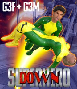 SuperHero Down for G3F and G3M Volume 1