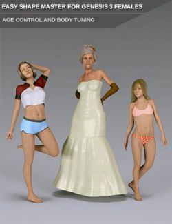 Easy Shape Master- Age Control and Body Tuning for Genesis 3 Female