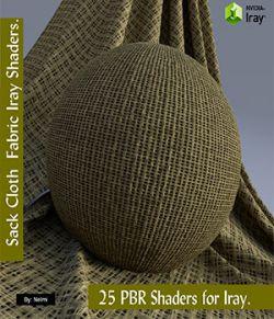 25 Sackcloth PBR Fabric Iray Shaders for Daz Studio