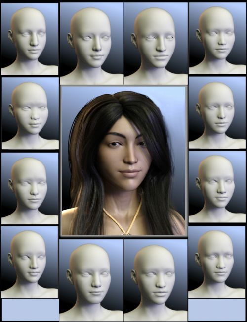 People of the Earth: Faces of Asia for Genesis 8 Female