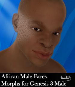 African Male Faces Morphs for Genesis 3 Male