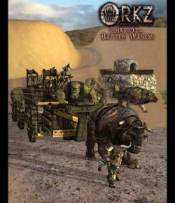 Orkz: Triceratox - Battle Wagon, Chariot and Bolt Thrower