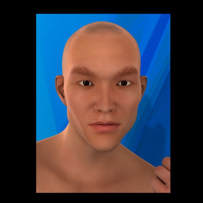 Asian Male Faces Morphs for Genesis 3 Male