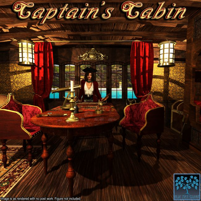 Captain S Cabin Props For Poser And Daz Studio