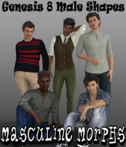 Masculine Morphs Genesis 8 Male Shapes