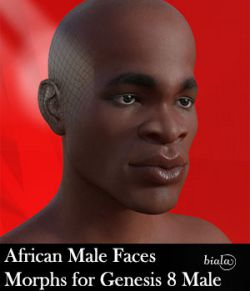 African Male Faces Morphs for Genesis 8 Male