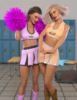 FG Cheerleader Outfit for Genesis 8 Female(s)