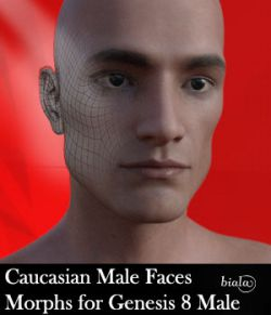 Caucasian Male Face Morphs for Genesis 8 Male