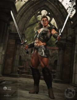 Fantasy Warrior Poses for Genesis 8 Female
