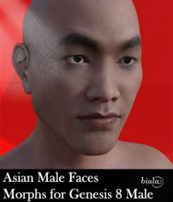 Asian Male Face Morphs for Genesis 8 Male