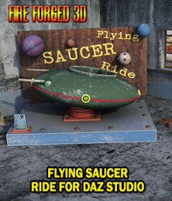 Flying Saucer Ride for Daz Studio