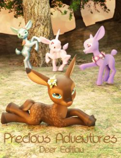 Precious Adventures Poses for Precious Deer