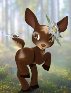 Fanciful Textures for Precious Deer