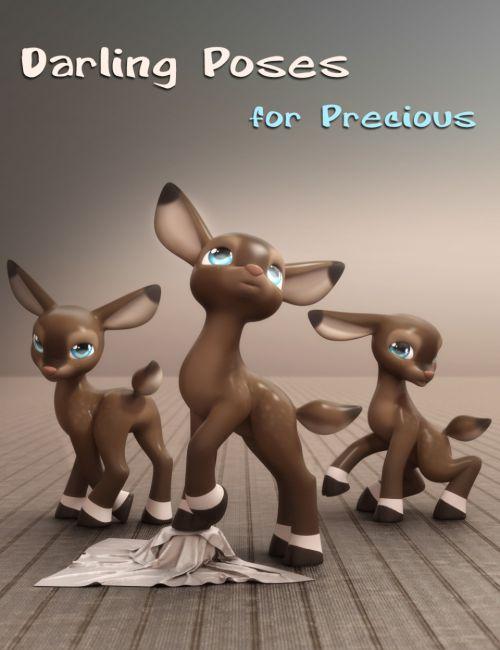 Darling Poses for Precious Deer