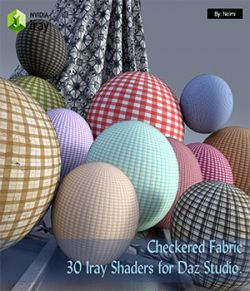 Checkered Fabric- 30 Iray Shaders for Daz Studio