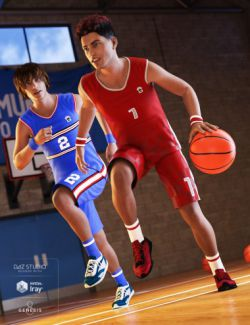 Basketball Kit for Genesis 3 & 8 Male(s)