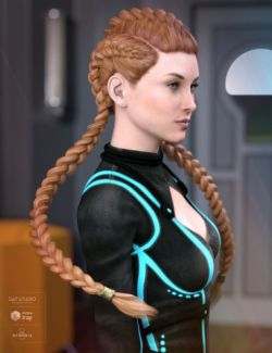 Quincy Hair for Genesis 3 & 8 Female(s)