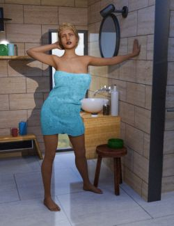 Modern Bath and Morphing Towel for Genesis 8 Female(s)