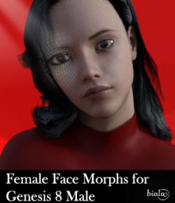 Female Face Morphs for Genesis 8 Male