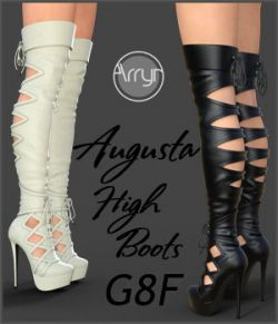 Augusta High Boots for Genesis 8 Females