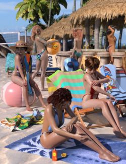 Beach Bundle for Genesis 8 Female(s)