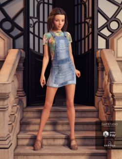 Denim Jumper Outfit for Genesis 8 Female(s)