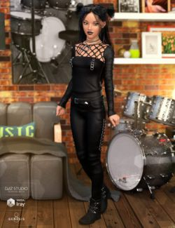 Goth Outfit for Genesis 8 Female(s)