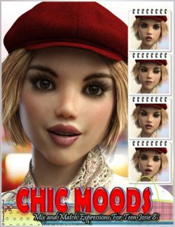 Chic Moods Mix and Match Expressions for Teen Josie 8 and Genesis 8 Female(s)