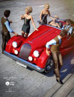 Sports Car Morris Poses