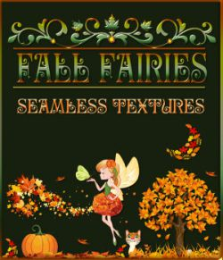 Fall Fairies Seamless Patterns