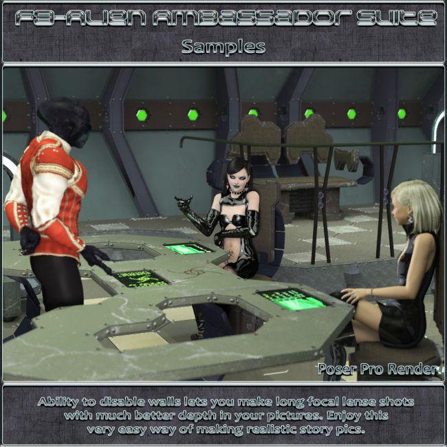 Ship Elements F3: Alien Ambassador Suite | Props for Poser