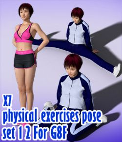 X7 physical exercises poses set 1 2 for G8F