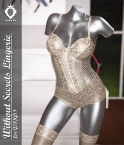 JMR Without Secrets Lingerie for G3F/G8F
