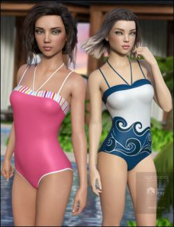 One Piece Swimsuit Vacation Textures