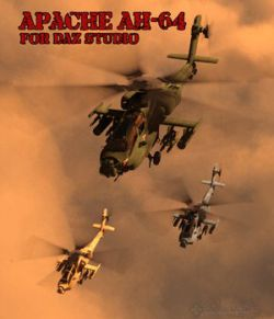 Apache AH-64 Helicopter- for DAZ Studio