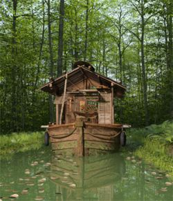 MS17 Swamp Boat for DAZ