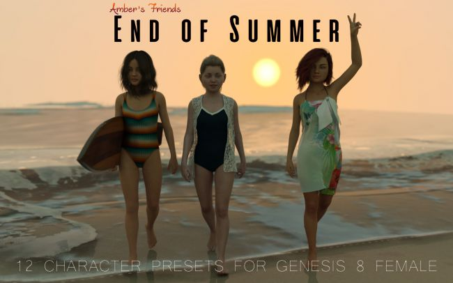 Amber's Friends End of Summer | 3D Models for Poser and Daz Studio