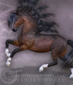 CWRW Pose Pack 1 for HiveWire Horse