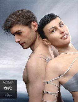 Classic Side Part Hair for Genesis 3 and 8