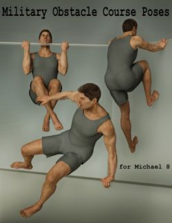 Military Obstacle Course Poses for Genesis 8 Male(s)